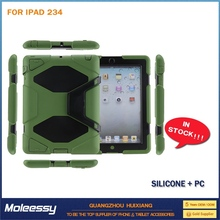 Heavy case leather carry case for ipad 2 3 4