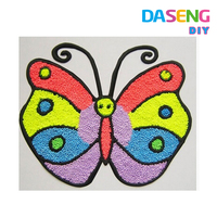 Butterfly design playdou painting