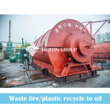 waste tire, rubber and plastic to oil extraction refining plant