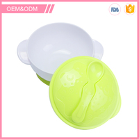 New design non-toxic plastic heat-resistance baby feeding bowl set