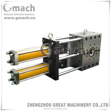 Double plate type two working positions continuous screen changer for plastic extruder