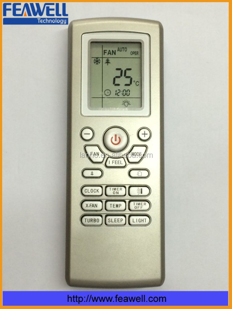 Big Lcd Display Painting Replacement Gree Remote Control