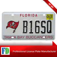 Florida 2008 TAMPA BAY BUCCANEERS GRAPHIC innovative license plate,us vehicle decorative license plate