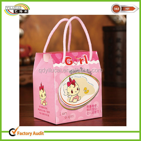Decorative Baby Gift Box : Lovely baby gift decorative box with cotton rope wholesale
