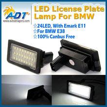 Error Free White E66 E38 LED License Plate Light Factory Deal High Quality