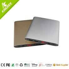 Dual USB smart credit card portable power bank 20000mah
