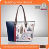 JL103- Fashion city pinted handbag women bag fashion handbag 2015