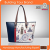 JL103- Fashion city pinting handbag women bag fashion handbag 2015