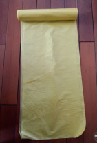 Clean yellow colour the flat plastic bags