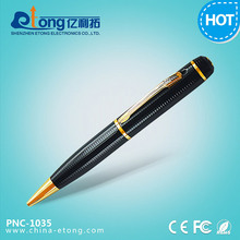 Audio/video recording 2.0mp HD detective camera in pen with photo taking