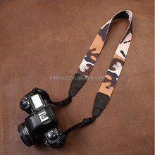 printing Camouflage Custom Fashion nylon or cotton+leather Camera Neck Strap