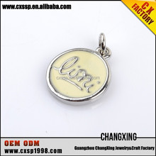 Fashionable cheap snap button jewelry engravable charms