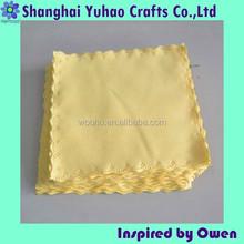 Custom microfiber wrap piece fabric cleaning cloth for sunglass jewelry watch
