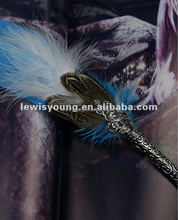 Popular novelty feather pen as fountain feather gift pen