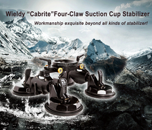wieldy Stabilizer Support with Ball Head Four Claw Suction Cup