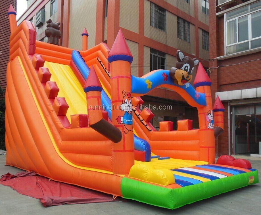 2017 projeto popular fornecedor profissional corrediça inflável gigante, gigante corrediça de água inflável, slide salto inflável