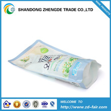 printed stand up plastic laundry detergent packaging bag