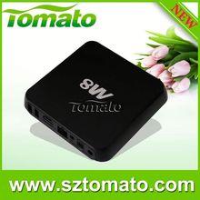AML Quad Core TM8 rom onboard emmc flash 8gb/16gb smart tv box Android Mini PC TV Box