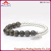 Fashion precious pearl jewelry,natural shell pearls round beads and gold plating bracelet