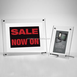 2015 NEW Style & Hot sale Creativ custom clear magnetic acrylic photo frames, picture frames 4 x 6