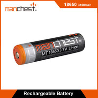 Newest branded rechargeable 3.7V 18650 lithium ion battery with 3100mAh