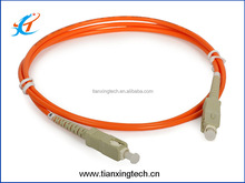 Orange SC PC multi mode fiber optic patch cord