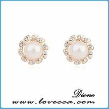 real pearl earrings studs - freshwater - genuine pearls- chunky pearl stud earrings post