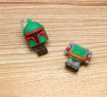 cheap 10pcs/lot Christmas Gifts Green robet Model USB 2.0 Flash Memory Stick Drive U Disk Festival Thumb/Car/Pen Gift