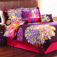 Hot sale comforter and sheet OEM Polyester bedding set (C17)