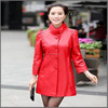 MY025 Flower ladies rabbit fur knitted jacket/ coat fur