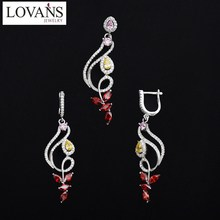 Customize 925 Silver Earrings Set Wedding Decoration Fashion Jewelry TZ-0212