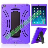 hot selling two in One Silicone and Plastic Hybird Case for iPad Air
