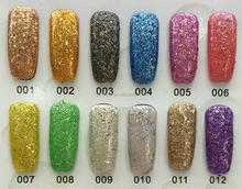 2015 new shining glitter gel nail design soak off nail art honey girl gel nail art kit