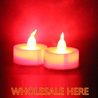 900pcs/lot red candle Hight Quality Flameless tea light candle For Decoration,battery candle