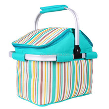 600D polyester outdoor foldable heat retaining picnic bags/mini ice pack