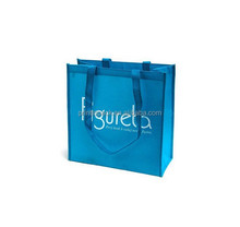 Blue non woven small bag with custom print