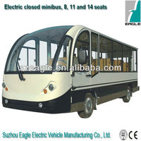 electric closed sightseeing car, 11 seats, EG6118KBF04,72V/7KW AC system, CE approved