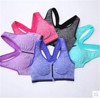 Women Sexy Shoulder Fitness Yoga Stretch Tank Top Seamless Sports Bra Vest