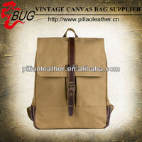 2014 new arrival waxed canvas back pack for men