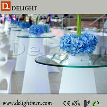 Bar furniture RGB color changing outdoor illuminated plastic portable remote control led used home bar goods for sale