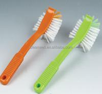 easy clean plastic dish brush hand style kitchen brush