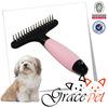Silica gel handle hard pin pet rake comb dog grooming