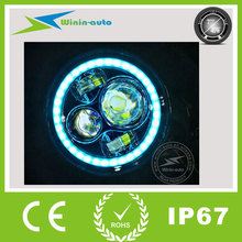 led motorcycle headlight angel eye head light led 7 inch led headlight for jeep WI7403