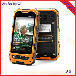 OEM Welcome MTK6572 Dual Core Rugged IP68 Waterproof Cell Phone A8 Best Price