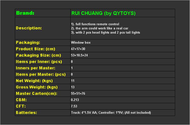 1:10 rc строительство экскаватор грузовиков