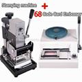 68 de personajes de plástico de pvc máquina impresora de tarjetas& manual de estampado en caliente de la máquina