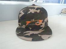 flat round visor 2015 embroidery logo camo front mesh back desert snapback cap