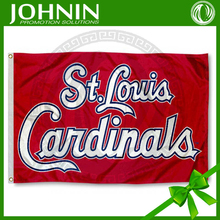 Custom made 90*150cm best quality St. Louis Cardinals knitted polyester flag