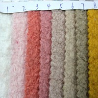 Fashionable 30W70P Heavy Knit Woolen Coat Boucle Fabric
