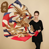 China factory cheap wholesale lady fashion luxury floral pattern multicolor printed silk scarf